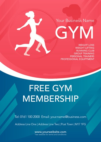 Gym A5 Leaflets by Printing.com Edinburgh