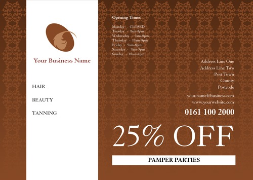 Hair A5 Leaflets by Peter Stewart
