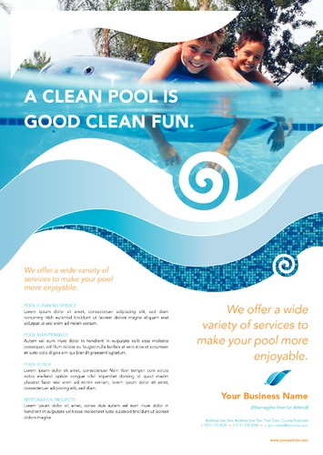 Swimming Pool A4 Leaflets by TemplateCloud Team