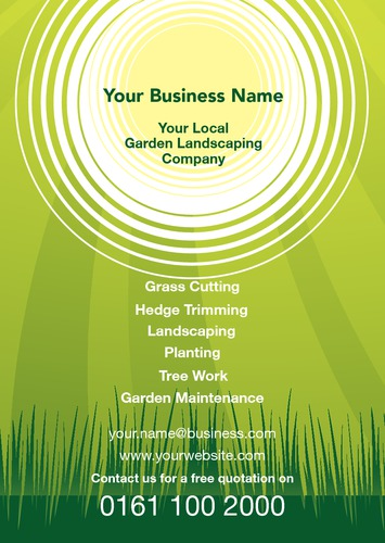 Garden Maintenance A5 Leaflets by Peter Stewart
