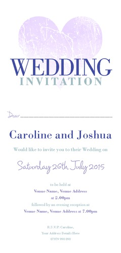  1/3rd A4 Invitations by Christopher Heath 