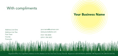 Garden Maintenance 1/3rd A4 Stationery by Peter Stewart
