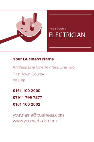 Electrician Business Card  by Paul Bullock 