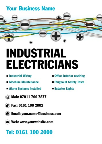 Electrician A5 Leaflets by Mr Neil Watson