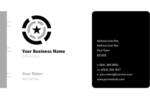 Business Card Star Stationery Black Collection by Paul Wongsam