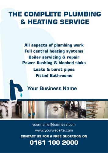 Plumbers A5 Leaflets by Peter Stewart 
