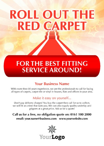 Carpet Fitters A4 Leaflets by Paul Wongsam