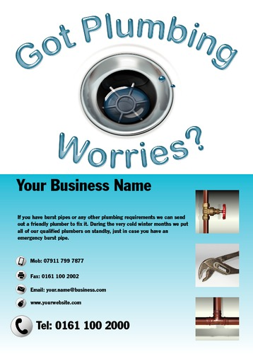 Plumbers A6 Leaflets by Mr Neil Watson