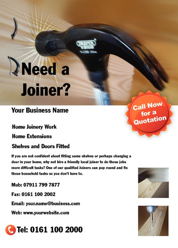 Joiners A6 Leaflets by Mr Neil Watson