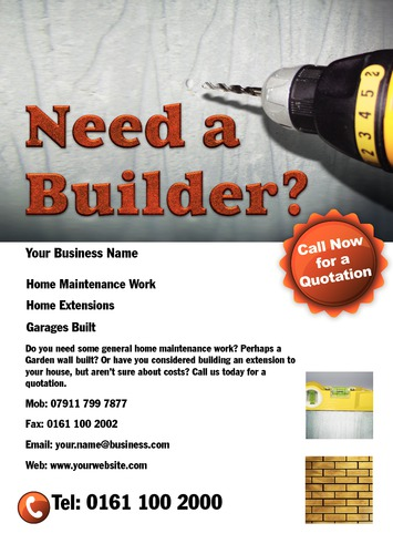 Builders A5 Leaflets by Mr Neil Watson