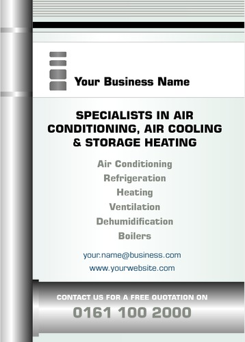 Air Conditioning A6 Leaflets by Peter Stewart
