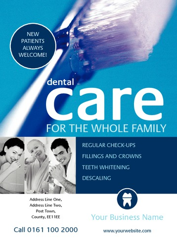 Dentists A6 Leaflets by TemplateCloud Team