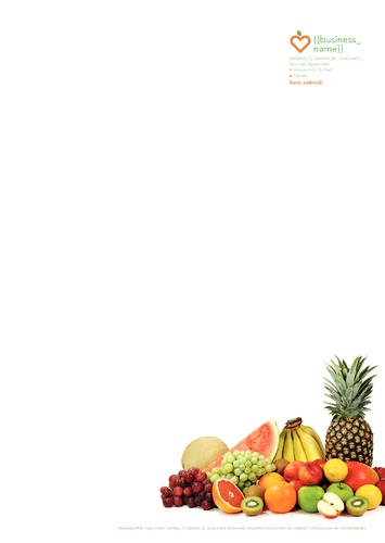 Nutritionists A4 Stationery by TemplateCloud Team