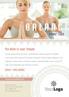 Fitness A6 Leaflets by Templatecloud