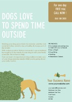 Dog Walkers A4 Leaflets by Templatecloud