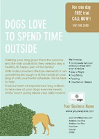 Dog Walkers A6 Leaflets by Templatecloud