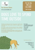 Dog Walkers A5 Leaflets by Templatecloud