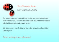 Nursery A7 Flyers by Templatecloud 