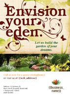 Garden Maintenance A6 Flyers by Templatecloud 