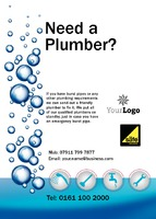 Plumbers A6 Flyers by  