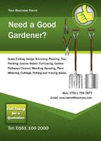 Garden Maintenance A6 Flyers by