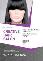 Beauty Salon A6 Flyers by