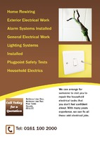 Electrician A5 Leaflets by