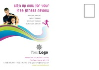 Gym A6 Postcards by Templatecloud