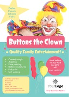 Children's Entertainer A4 Leaflets by