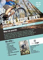 Mountain Bikes A6 Leaflets by