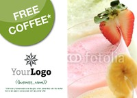 Coffee Shop A6 Leaflets by
