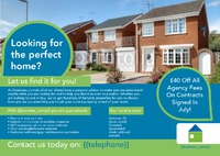 Estate Agents A5 Leaflets by  