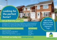 Estate Agents A4 Leaflets by