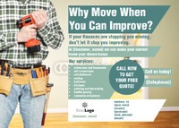 Home Improvement A6 Leaflets by Helen Tarver 