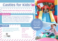 Bouncy Castle Hire A5 Leaflets by