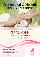 Beauty Salon A4 Leaflets by