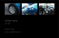 Car Dealers Business Card  by