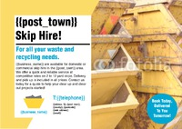 Skip Hire A4 Leaflets by