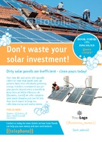 Solar Panels A6 Leaflets by