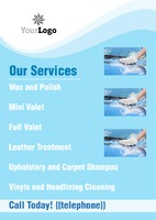 Car Wash A5 Flyers by