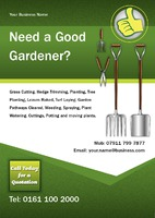 Garden Maintenance A5 Leaflets by