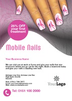 Beauty Salon A6 Leaflets by