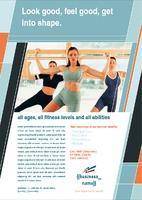 Gym A5 Flyers by Templatecloud