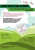 Golf A5 Leaflets by