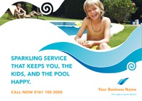 Swimming Pool A5 Leaflets by Templatecloud