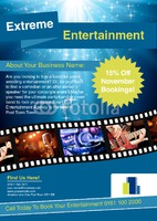 Entertainer A4 Leaflets by