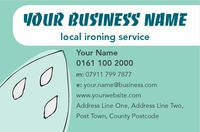 Ironing and Laundry Services Business Card  by  