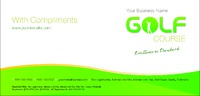 Golf 1/3rd A4 Stationery by