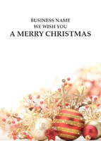 A6 Christmas Cards by Templatecloud