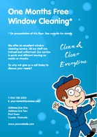 Window Cleaning A5 Flyers by